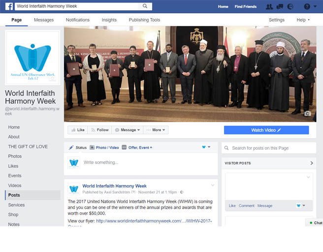 World Interfaith Harmony Week on Facebook